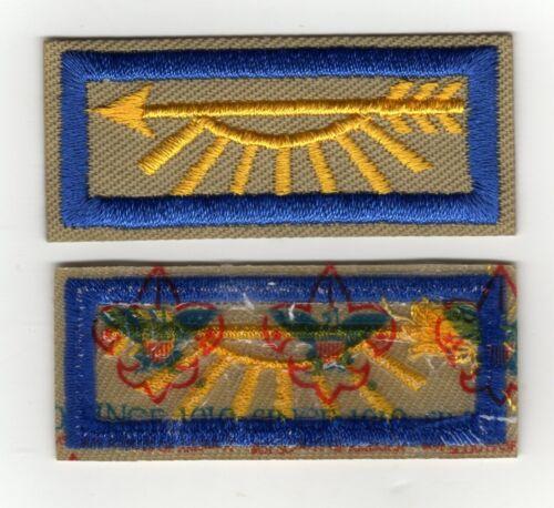 "Arrow of Light Strip Patch w/ ""Since 1910"" Backing, Mint!"