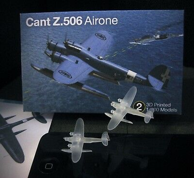 UPGRADE! 1/700 Cant Z.506 Alcione Flying Boat - (x3) 3D Printed - Superbo!