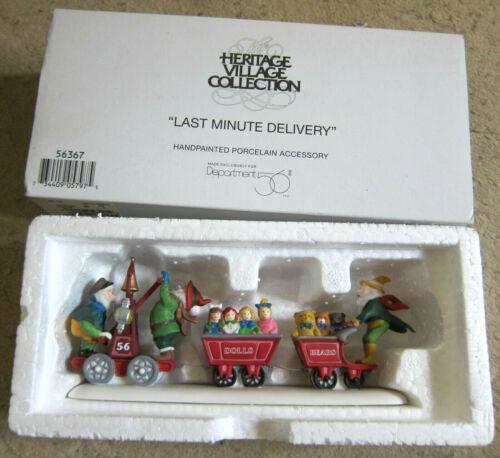 Dept. 56 Heritage Village Collection- Last Minute Delivery Elves #5636-7