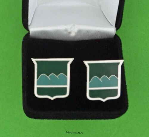 80th Infantry Division US Army Cuff Links & Gift Box - Blue Ridge Division USA