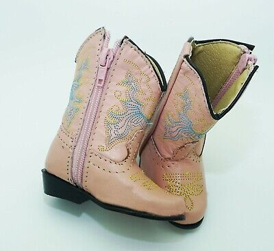 Baby Infant and/or Child Real Leather Girls Western Boots](Baby Western Boots)