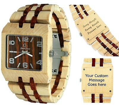 Men's and women's wooden Wristwatches - wooden wristwatch - custom engraving art
