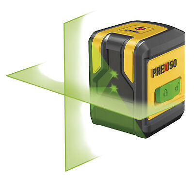 PREXISO 8250379 - Nivel lser de 2 l¡neas en cruz verde PLC10PG