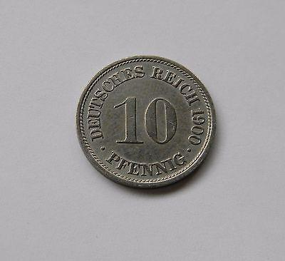 KAISERREICH: 10 Pfennig 1900 F, J. 13, fast stempelglanz