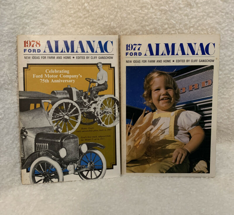 2 Vintage ~ 1977 & 1978 Ford Almanac~Ford's 75th Anniversary (1978 Issue)