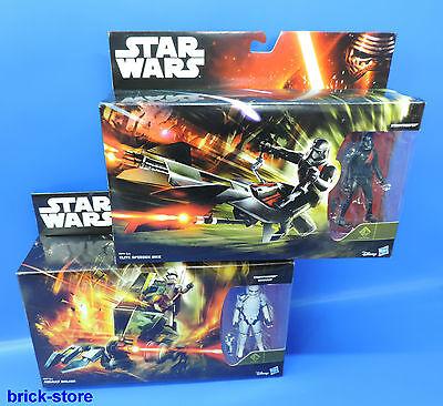HASBRO STAR WARS / B3717 / B3718 / 2x Stormtrooper plus speeder Bike und Walker