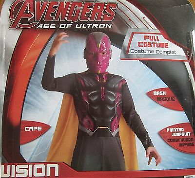 Avengers Age Of Ultron Vision Kinder Kostüm Marvel Comics Größe M 8-10 Neu ()