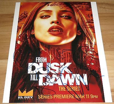 From Dusk Till Dawn The Series Cast Signed 11x14 By 5 Cotrona Holtz Exact