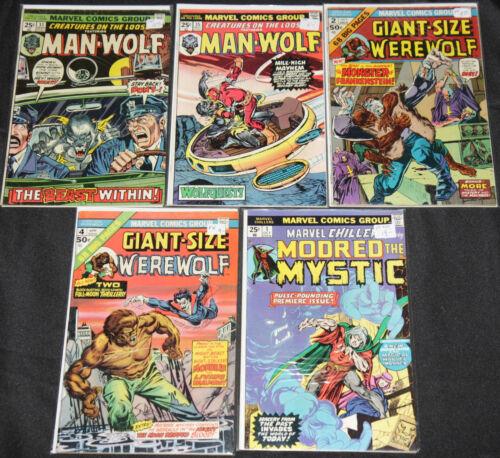Marvel/DC Bronze HORROR / HERO TITLES 14pc Mid Grade Comic Lot FN Swamp Thing