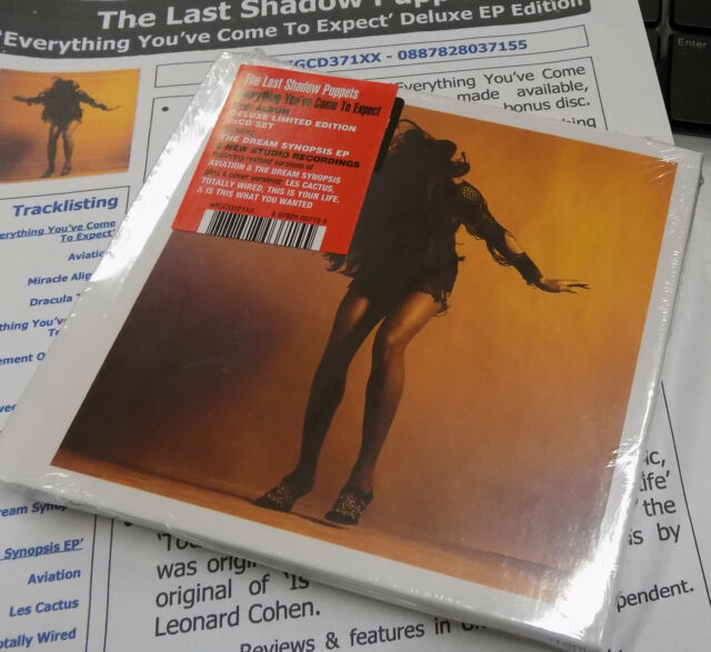 LAST SHADOW PUPPETS CD Everything You've Come To Expect + Dream Synopsis DOUBLE