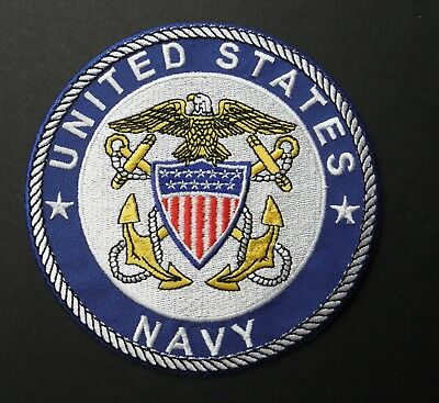 US NAVY USN NAVAL OFFICER DESIGN EMBROIDERED PATCH 5 INCHES