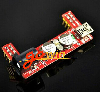 2PCS MB102 Breadboard Power Supply Module 3.3V 5V F Solderless Arduino mini usb