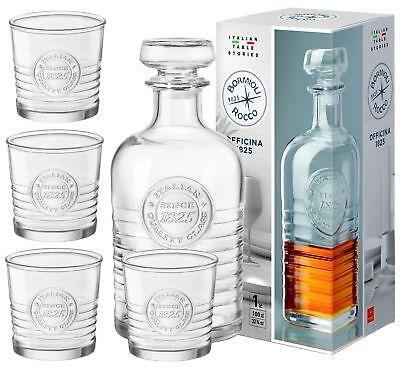 Whisky Set 5tlg Karaffe 1l + 4 Whiskygläser 30cl Geschenkset Gläserset Tumbler