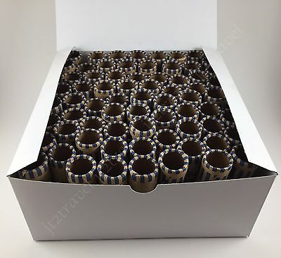100ct Preformed Nickel Tubes Paper Coin Wrapper 5 Cent Nickels Shotgun Roll - Paper Coin Tubes