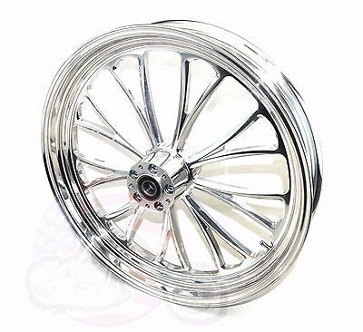 Polished Manhattan 21 3.5 Billet Front Wheel Rim Harley Touring Bagger Dual Disc