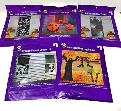 Halloween Decorations Witches Outdoor (Halloween Outdoor Decorations - Ghosts, Door Cover, Witches, Pumpkin - Lot of)