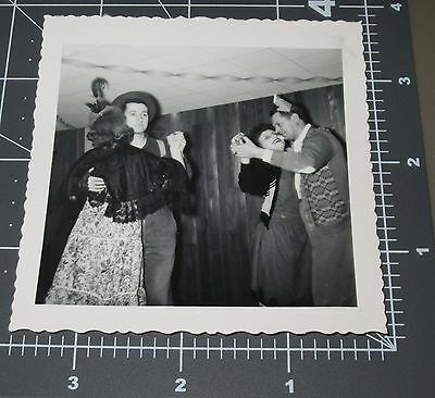 Gay Couples Costume (Costume Party Dancing Couple 1950's Rock n Roll Music Vintage Gay Snapshot)