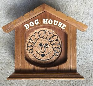 "Novelty Wood Coaster Set Who's In The ""Dog House"" ?"
