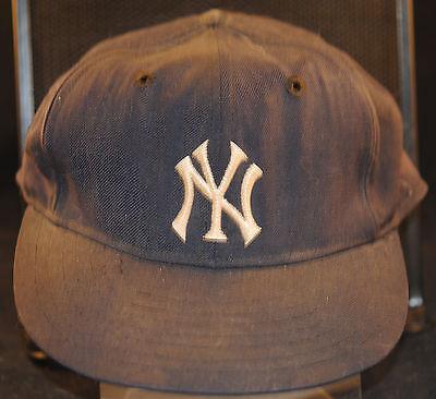NY YANKEES 1960s AUTHENTIC GAME USED KM PRO BASEBALL CAP HAT