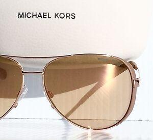d0d531caa15f NEW* Michael Kors Rose Gold 59mm Aviator w RoseGold Lens Women's Sunglass  MK5004