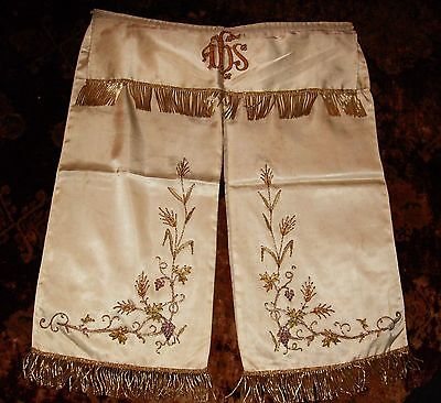 Antique French Tabernacle Curtain Vestment