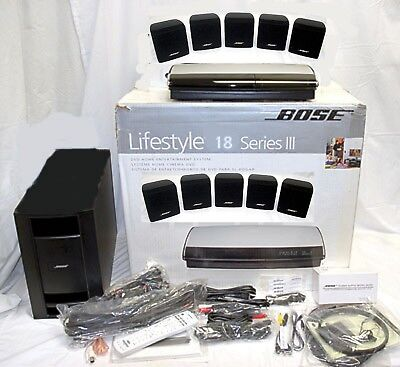 Bose Lifestyle 18 Series III 3 BLACK DVD Home Theater System Dolby 5.1-Speakers