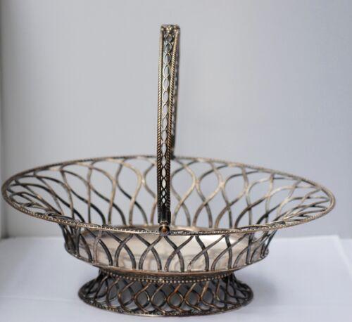 George III Old Sheffield Plate Wire Work Fruit Basket Circa 1800