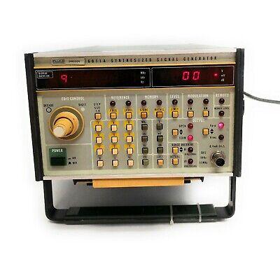 Vintage Fluke 6011a Synthesized Signal Generator 10hz To 11mhz .25mv To 5v Rms