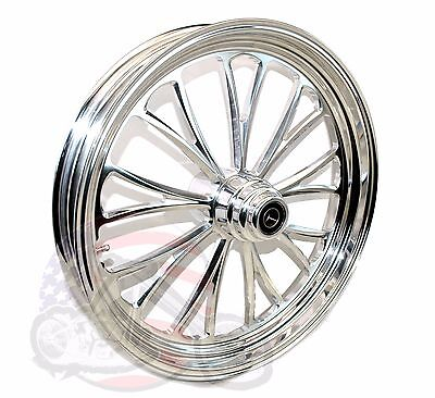 "Polished Manhattan 21 3.5 Billet Front Wheel Rim Harley Touring & Softail 3/4 1"""