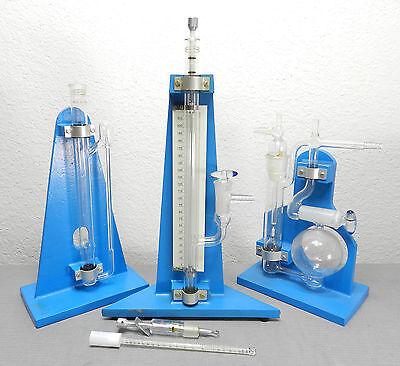 Lot Of Rare Nester Faust Mini Micro Glass Lab Distillation Apparatus Columns