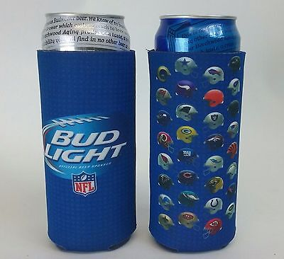 Lot Of 2 Bud Light Beer NFL 24/25 oz Tall Can Koozie