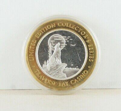Traverse Bay Casino, Peshawbestown, Michigan .999 Silver $10 Gaming Token Coin
