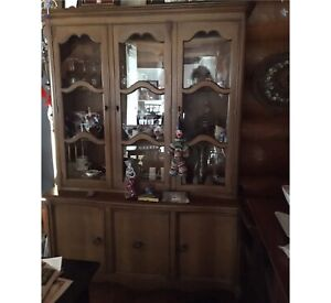 China cabinet and desk