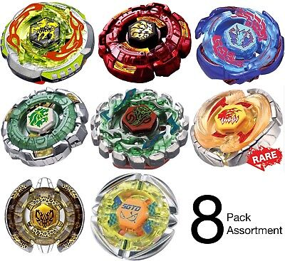 Wholesale Lot Pack of 8 Assorted Beyblades Metal Master Set - Drago Pegasus Fang