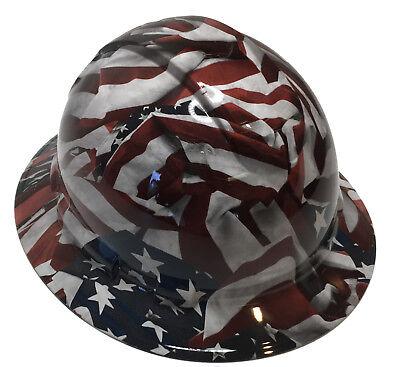 Hard Hat Vintage American Flag Full Brim With Free Brb Tshirt