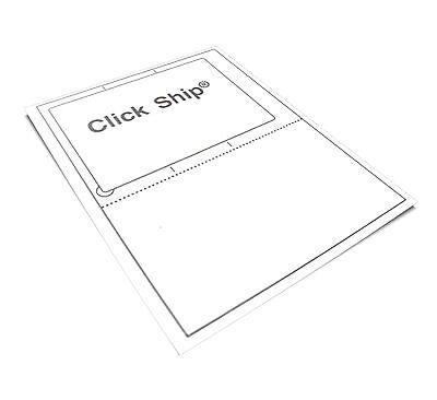30 Click N Ship Labels With Tear-off Receipt - Usa Made - Peel Pull Apply