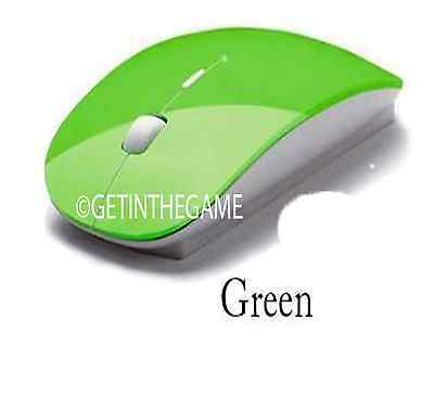 Wireless Optical Mouse 2.4GHz Quality Mice USB 2.0 Receiver for PC Laptop GREEN