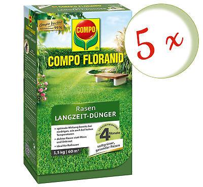 Savings Set: 5 x Compo Floranid Lawn Fertilizer, 1,5 KG