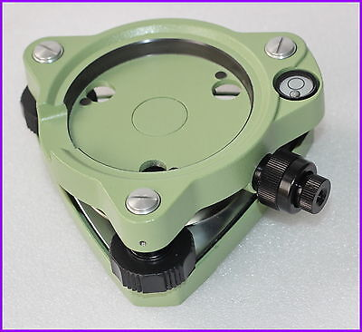 New Three-jaw Topcon Type Green Tribrach With Optical Plummet For Total Station