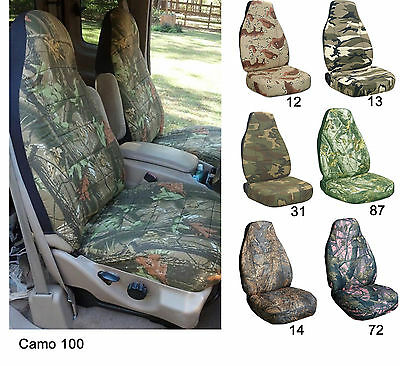 CC Front set car seat covers Ford F150 - 550 captain chairs w armrest 92-00 ()