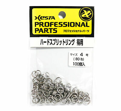 Xesta Hard Split Rings Value Pack Yellow Package Size 4, 100 pieces -