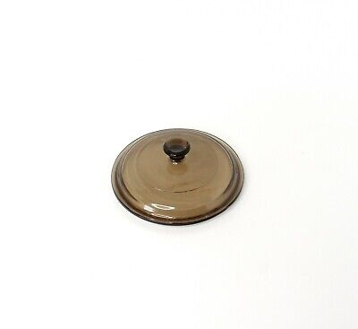 Pyrex P-81-C Corning Ware Brown Amber Glass Replacement Lid 6