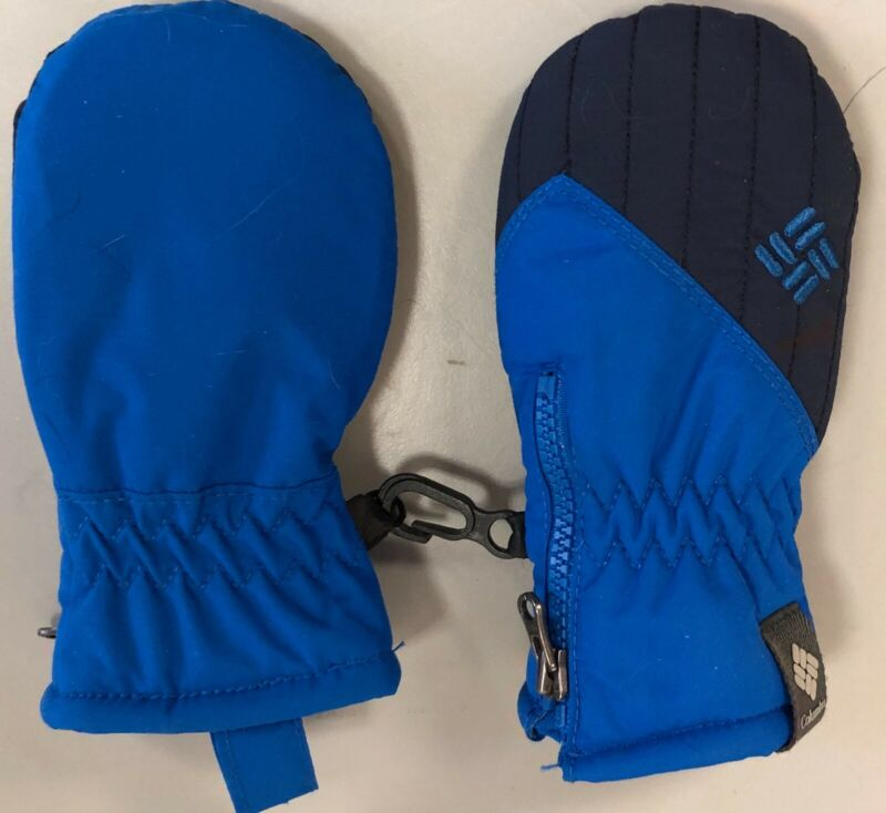 COLUMBIA INFANT BABY UNISEX MITTENS BLUE OSFM EXCELLENT CONDITION