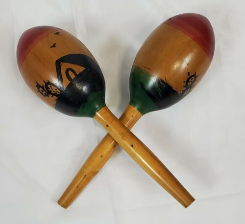 Vintage Pair of Wooden Morocco