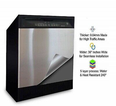 Instant Appliance Laminate Looks Real Stainless Steel Film Foil Wrap Overlay 3