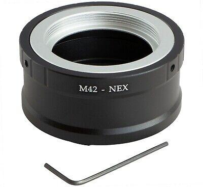 M42-NEX Lente Montaje Anillo Adaptador A sony Alpha a9 II a9 a7R...
