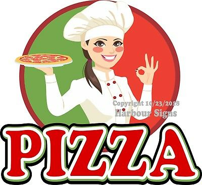 Pizza Decal Choose Your Size Chef Food Truck Concession Vinyl Sign Sticker