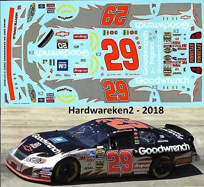 NASCAR DECAL #29 GOODWRENCH 2005 MONTE CARLO KEVIN HARVICK JWTBM