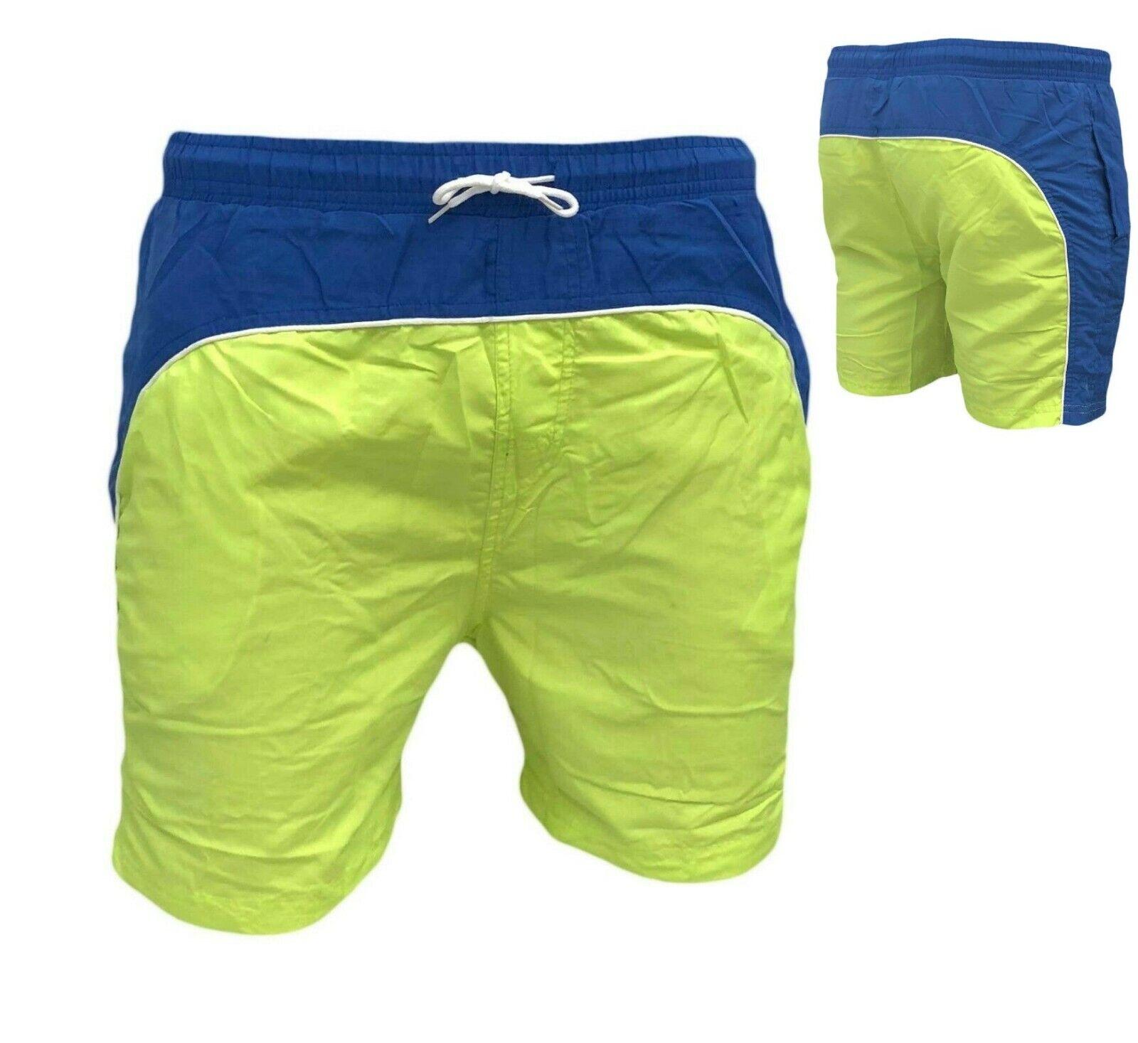 Costume Da Bagno Uomo Boxer Mare Pantaloncino Militare Bermuda Piscina Elastico
