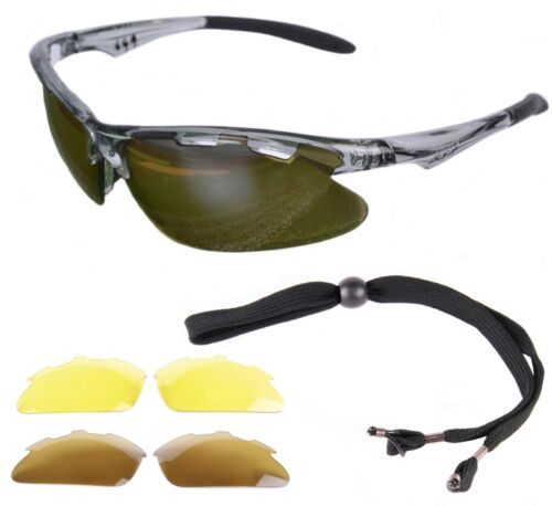 Polarized GOLF SUNGLASSES for Men & Women: Interchangeable Lenses: Rapid Eyewear